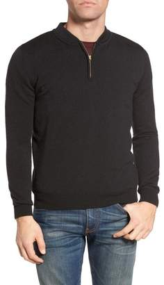 Victorinox Singer + Sergant Extrafine Merino Wool Quarter Zip Sweater
