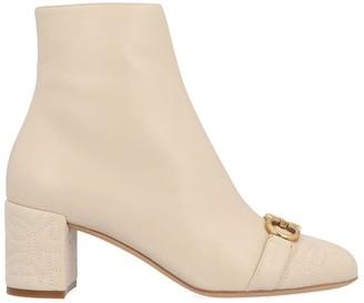 Salvatore Ferragamo Primula Gancini Buckle Heeled Ankle Boots