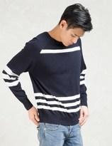 Still Good Navy/white Stripes Crewneck Pullover Sweater