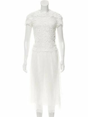 Valentino Lace Midi Dress w/ Tags White