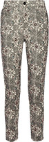 Isabel Marant Marak printed cotton-blend corduroy skinny pants