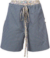 Vivienne Westwood Cannone faux layered check shorts