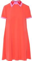 Roksanda Radner Crepe-trimmed Stretch-cady Mini Dress - Coral