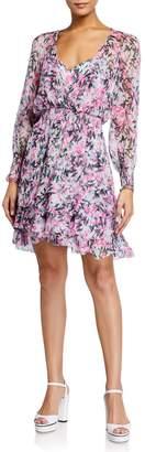 Diane von Furstenberg Kelby Smocked Long-Sleeve Dress