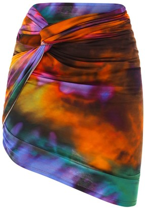 ATTICO Draped Mini Skirt