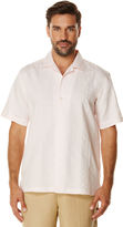 Cubavera Short Sleeve Ramie Cotton Embroidery With Camp Collar
