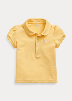 Ralph Lauren Puff-Sleeve Interlock Polo