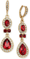Givenchy Gold-Tone Double-Drop Crystal Earrings
