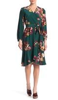 Amour Vert Elma Floral Silk Wrap Dress