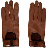 Calvin Klein Collection Brown Leather Gloves