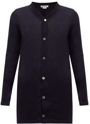Comme des Garcons V-neck Wool Cardigan - Womens - Navy