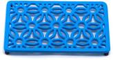 ODI HOUSEWARES Blue Aster Rectangular Flora Trivet