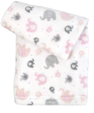 Tadpoles Ultra-Soft Micro Fleece Plush Elephant Baby Blanket Bedding
