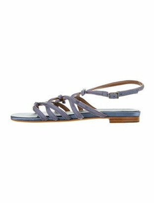 Tabitha Simmons Bow Accents Gladiator Sandals Blue