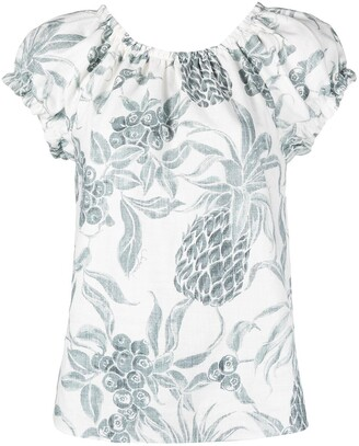 See by Chloe Spring Fruits-print gathered blouse