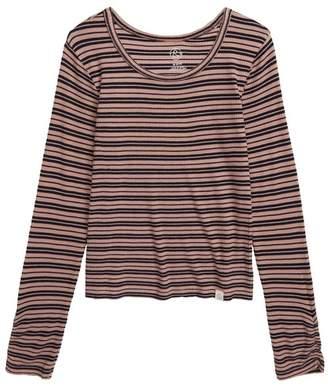 Treasure & Bond Stripe Rib Long Sleeve Shirt