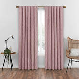 Eclipse Nora Geometric Embroidery Blackout Rod-Pocket/Back-Tab Curtain Panel
