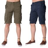 Loyalty And Faith Designer Mens Cotton Casual Cargo Summer Combat Twill Shorts