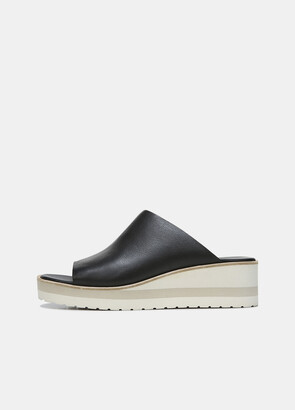 Vince Sarria Leather Wedge Mule