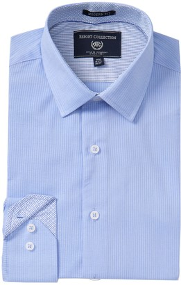 Report Collection Dobby Stripe Modern Fit Dress Shirt