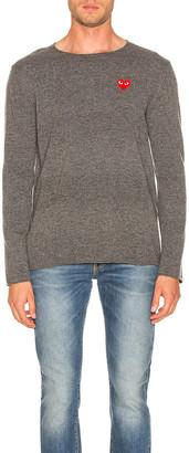 Comme des Garcons Logo Emblem Sweatshirt in Grey | FWRD