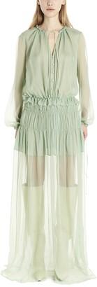 Amiri Ruffled Maxi Dress