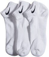 Nike Cotton Cushion Low Cut Ankle Socks 3 Pair Pack SX4701-101 Size (8-12)