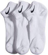 Nike Men's Dri-FIT Cushion Quarter 3-Pack Socks SX4703 (S, 001 )