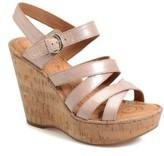 Børn Women's B?rn 'Zela' Strappy Wedge Sandal