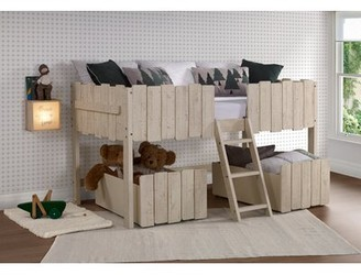 Isabelle & Max Cogburn Twin Low Loft Bed with Drawers