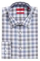 HUGO BOSS C-Jenno Slim Fit, Brushed Check Easy Iron Cotton Dress Shirt 17Blue