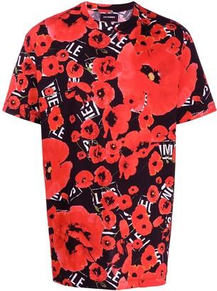 Les Hommes floral-print cotton T-shirt