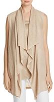 Lafayette 148 New York Drape Collar Linen Vest