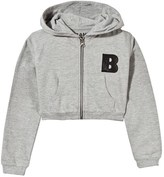 The BRAND Grey Cropped Hoodie