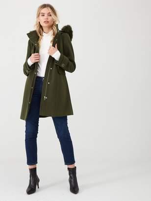 Wallis Twill Duffle Coat - Khaki