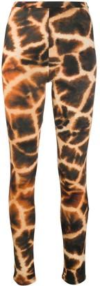 Roberto Cavalli Giraffe-Print Leggings