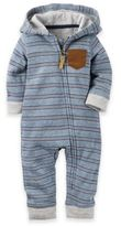 Carter's Size 6M Hooded French Terry Jumpsuit in Blue