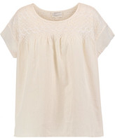 Current/Elliott Embroidered Cotton Top