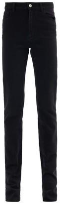 ATTICO Longline Slim-leg Stretch-cotton Jeans - Black