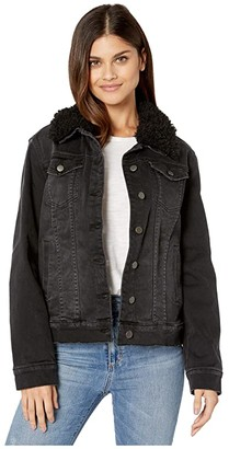 KUT from the Kloth Emma Boyfriend Jacket w/ Drop Shoulder (Black) Women's Clothing