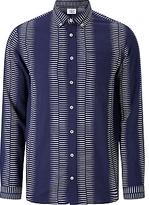 Libertine-libertine Down Hunter Check Flannel Shirt, Dark Navy