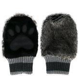 Dolce & Gabbana faux fur paw mittens