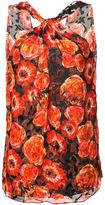 Lanvin rose print sleeveless top - women - Silk - 42