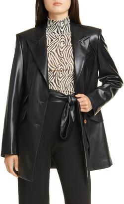 Nanushka Cancun Vegan Leather Blazer