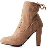 Charlotte Russe Tie-Back Ankle Booties