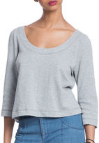 Plenty by Tracy Reese Heathered Three-Quarter Sleeve Sweatshirt