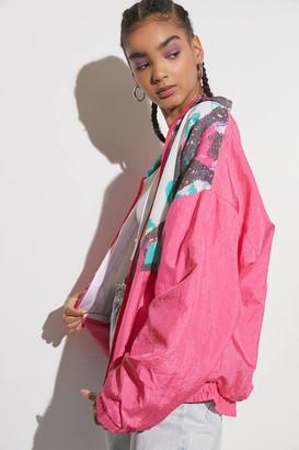 Urban Renewal Vintage Printed Windbreaker Jacket