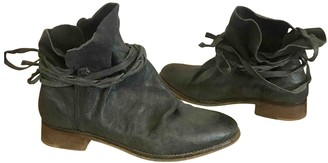 Free People Grey Leather Ankle boots