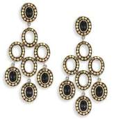 John Hardy Dot Black Onyx& 18K Yellow Gold Chandelier Earrings