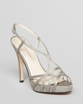 Caparros Open Toe Evening Platform Sandals - Highlight Wishbone High Heel
